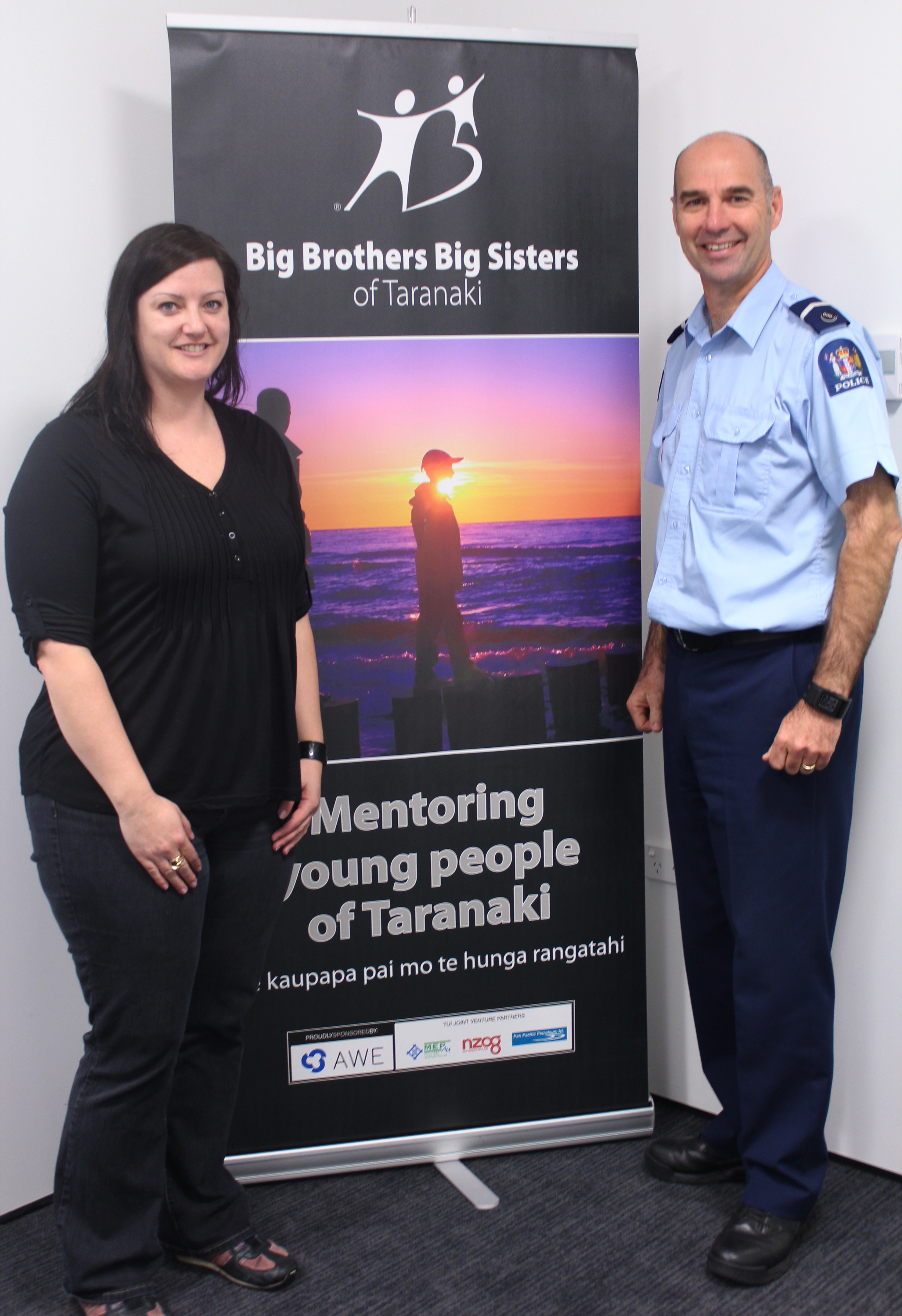 Community Focused: Case manager Nic Willis (left) and Senior Constable Paul Lampe (right) are focused on ensuring that young people have a positive role model in their life. Photo : Sharyn Smart