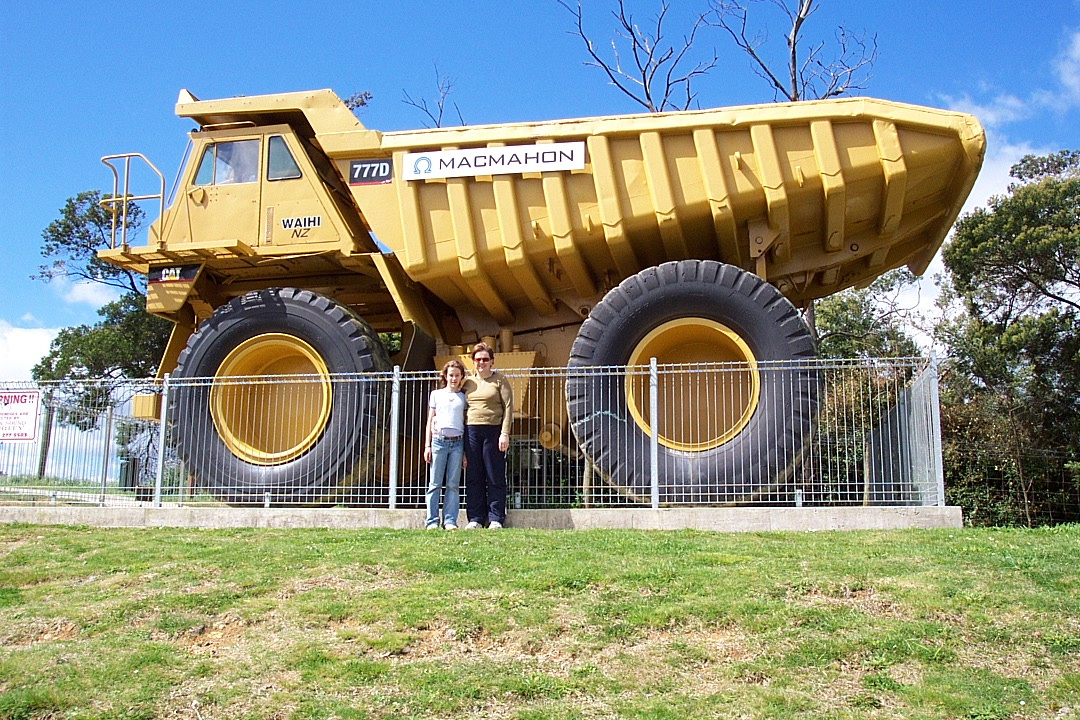 One of the mining trucks that gives you some perspective of how big they are.
