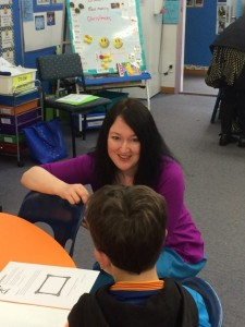 Jolene Stockman passing on her knowledge to the next generation of writers.